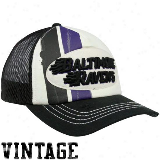 Reebok Baltimore Ravens Natural-black Broiler AdjustableT rucker Hat
