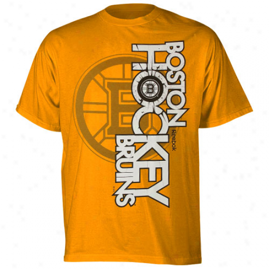 Reebok Boston Bruins Glacier T-shirt - Gold