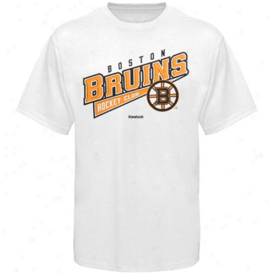Reebok Boston Bruins Hockey Sweep T-shirt - White