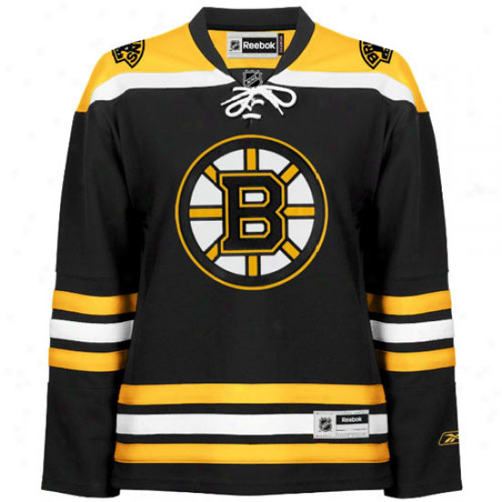 Reebok Boston Bruins Women's Premier Jersey - Black
