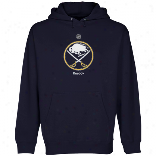 Reebok Buffalo Sabres Youth Navy Blue Primary Logo Ii Hoodie Sweatshirt