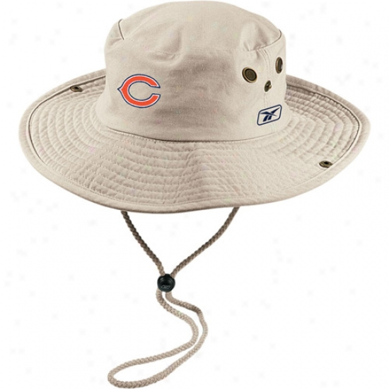 Reebok Chicago Bears Khaki Safari Fitted Hat