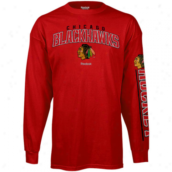 Reebok Chicago Blackhawks Youth Framework Long Sleeve T-shirt - Red
