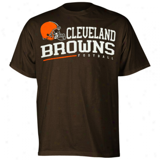 Reebok Cleveland Browns Arched Horizon T-shirt - Brown