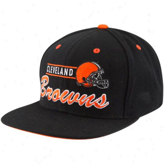 Reebok Cleveland Browns Black Triturate Snapback Adjustable Hat
