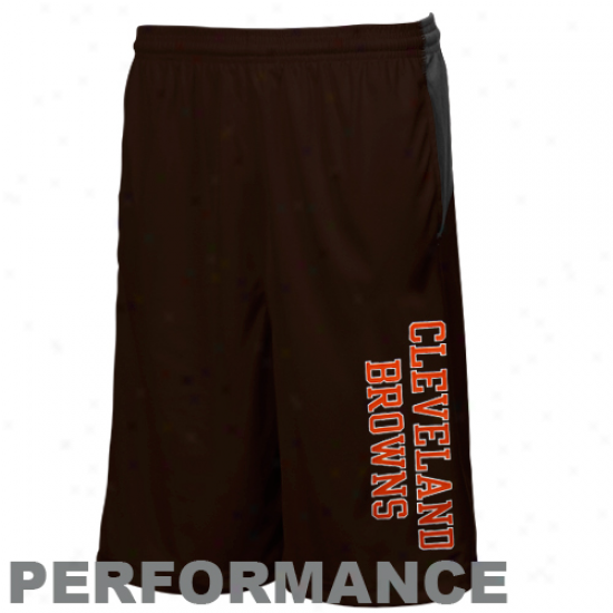 Reebok Cleveland Browns Youth Brown Colorblock Performance Shorts