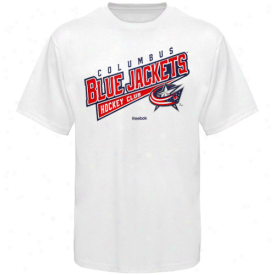 Reebpk Columbus Blue Jackets Hockey Sweep T-shirt - Pale