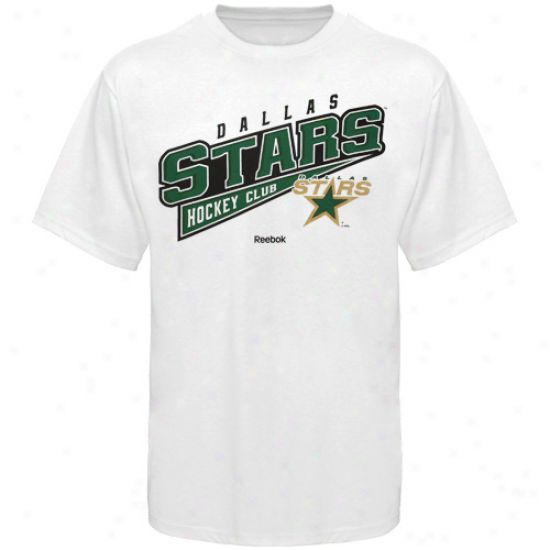 Reebok Dallas Stars Hockey Sweep T-shirt - White