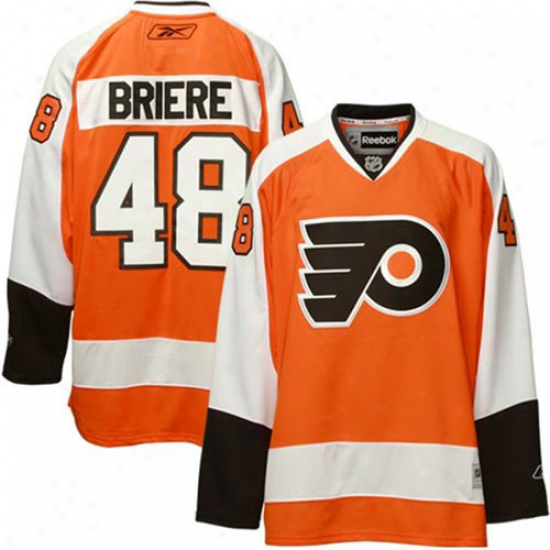 Reebok Danny Briere Philadelphia Flyers Youth Replica Jersey - Orangr