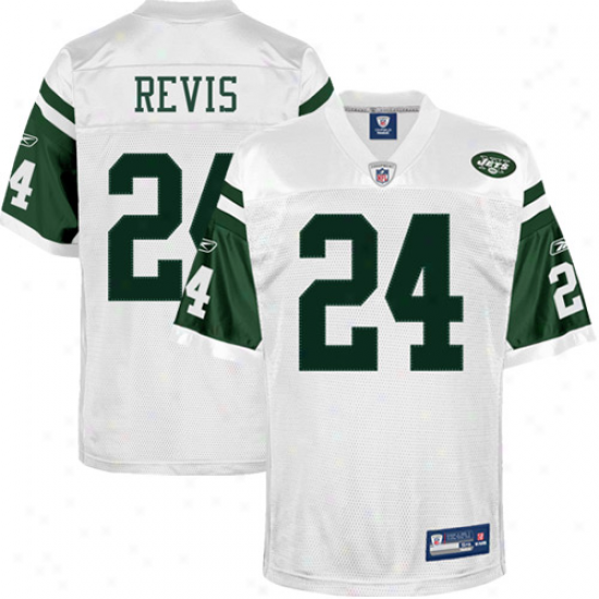 Reebok Darrelle Revis New York Jets Authentic Jersey - White