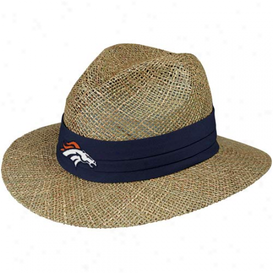 Reebok Denver Broncos Natural-black Training Camp Strqw Hat