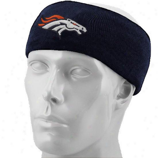 Reebok Denver Broncos Navy Blue Knit Heeadband
