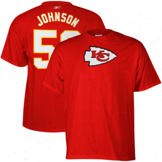 Reebok Derrick Johnson Kansas City Chiefs #56 Scrimmage Gear Player T-shirt - Red