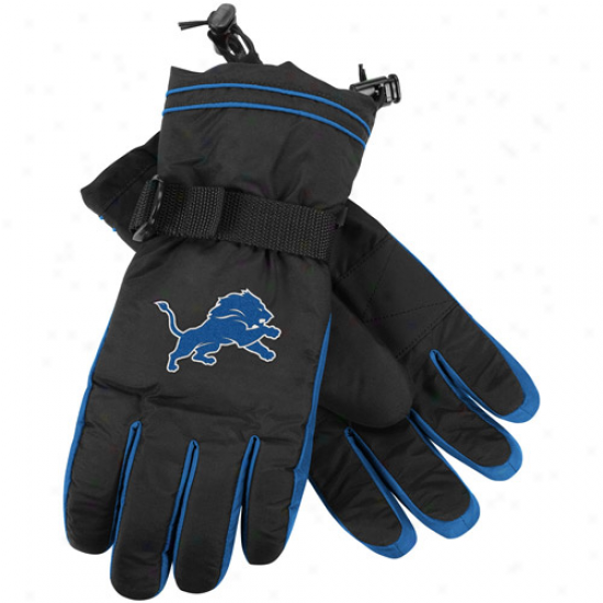 Reebok Detroit Lions Black Second Seaso nPlayer Winter Gloves