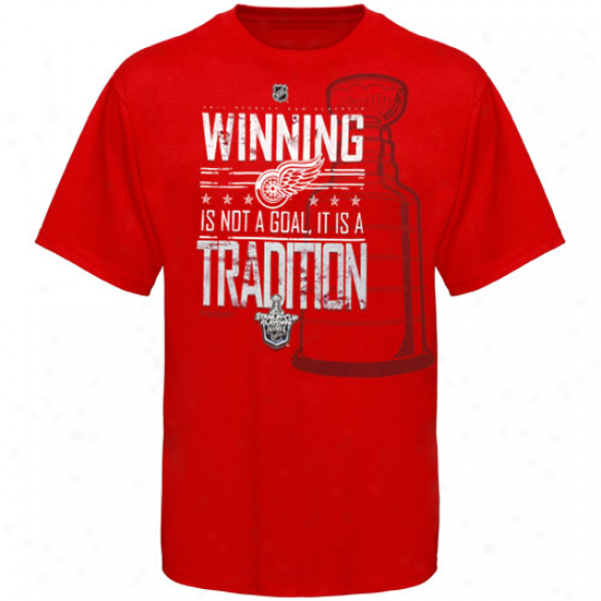 Reebok Detroit Red Wings 2011 Nhl Playoffs Winning Tradition T-shirt - Red