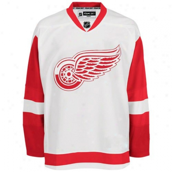 Reebok Detroit Red Wings White Authentic Nhl Jersey
