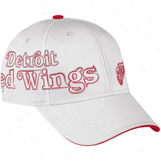 Reebok Detroit Red Wings White Second Season Player Flex Hat