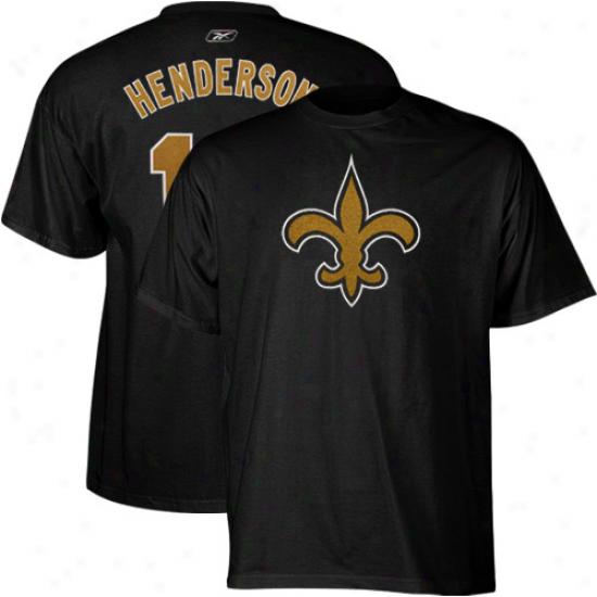 Reebok Devery Henderson New Orleans Saints #19 Scrimmage Gear Player T-shirt - Blck