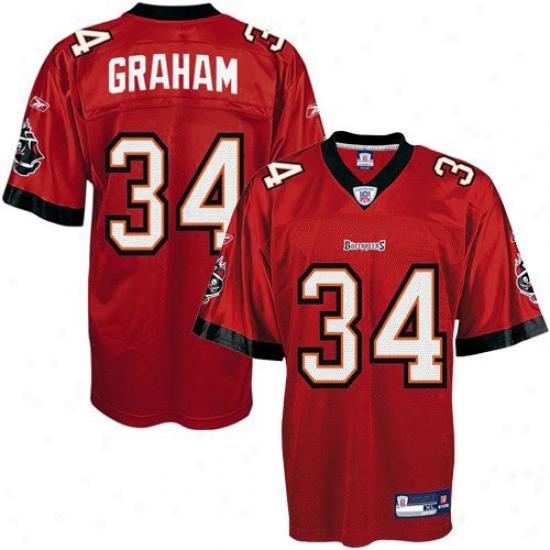 Reebok Earnest Graham Tampa Bay Buccaneers Replica Jersey - Red