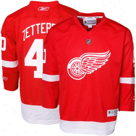 Reebok Henrik Zetterberg Detroit Red Wings Youth Replica Jersey - Red