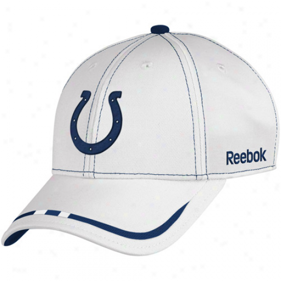 Reebok Indianapolis Colgs White Coaches Game Plan Adjustable Hat