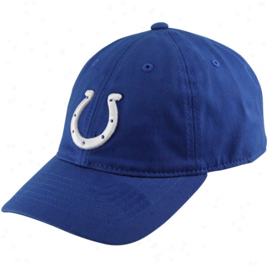 Reebok Indianapolis Colts Youth Basic Logo Slouch Hat - Royal Blue