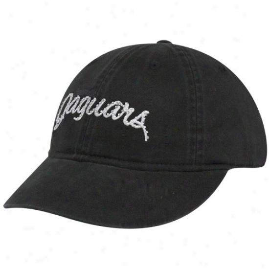 Reebok Jacksonville Jaguars Ladies Black Charlie Clownish gait Adjustable Hat