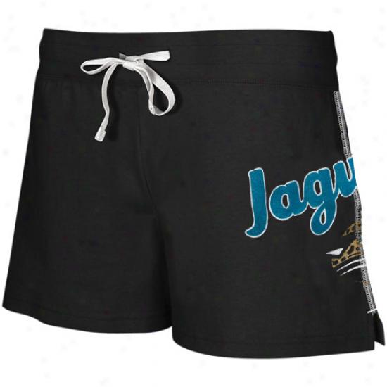 Reebok Jacksonville Jaguars Laddies Black Hipster Active Shorts