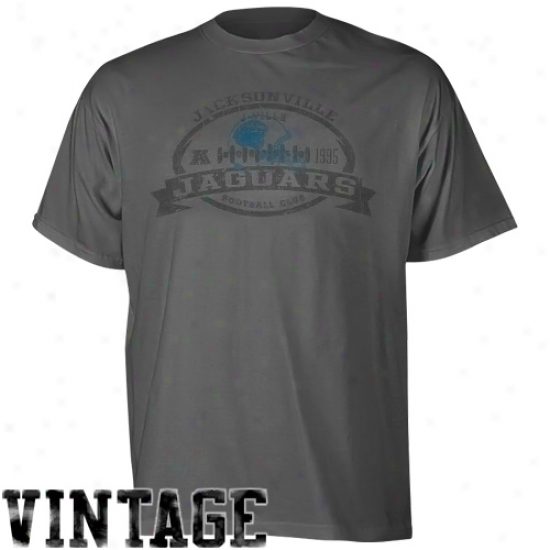 Reebok Jacksonville Jaguars Seal The Deal Pigment Dyed T-shirt - Dark Gray