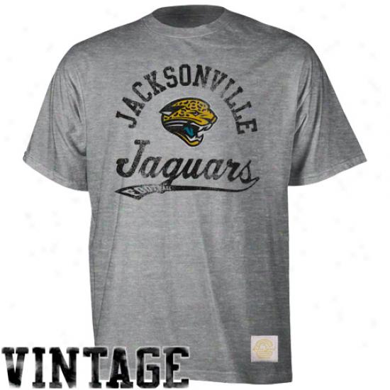 Reebok Jacksonville Jaguars The Pregnant Traverse Premium Heathered T-shirt - Ash
