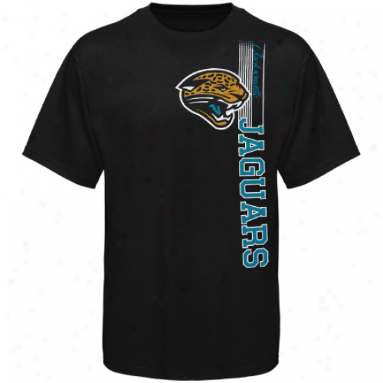 Reebok Jacksonville Jaguars Youtth Vertical Presence T-shirt - Black