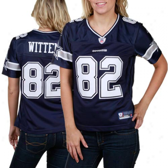Reebok Jasno Witten Dallas Cowboys Women's Premier Tackle Twill Jersey - Navy Blue
