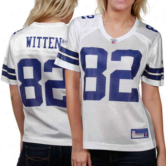 Reebok Jason Witten Dallas Cowboys Women's Replica Jersey - White