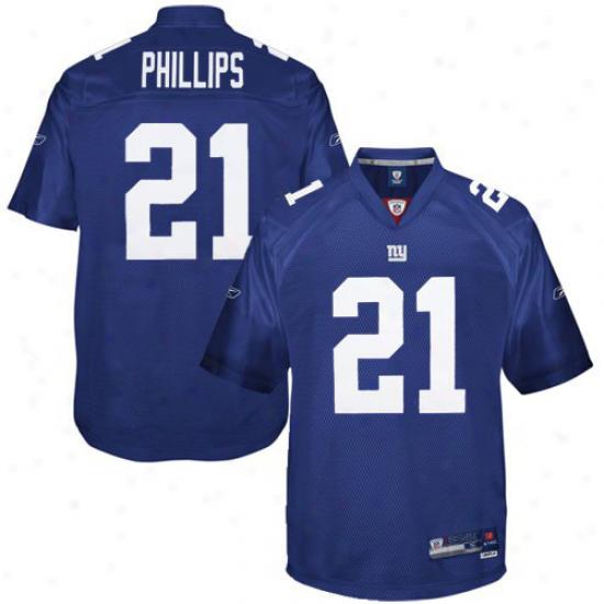 Reebok Kenny Phillips New York Giants Replica Jersey - Royal Blue