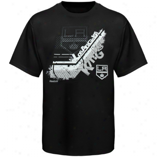 Reebok Los Angeles Kings Youth In-stick-tive T-shirt - Black