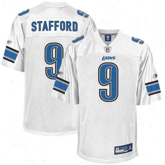 Reebok Matt Stafford Detroit Lions Replica Jersey - White