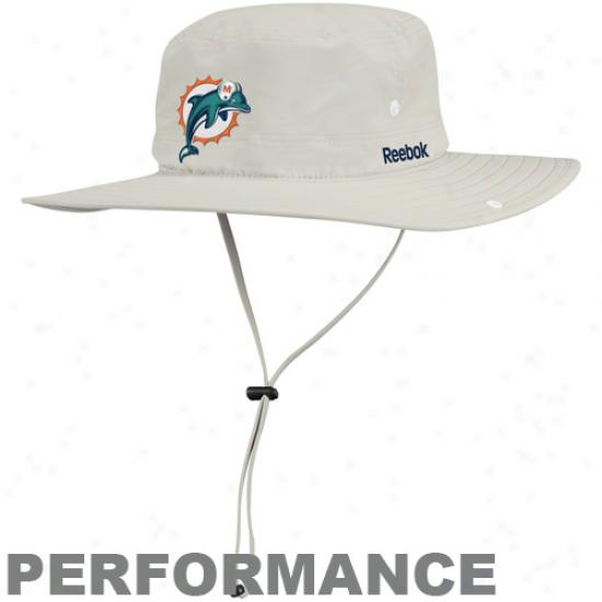 Reebok Miami Dolphins Khaki Safari Adjustable Performance Hat