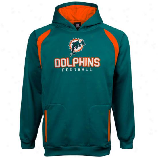Reebok Miami Dolphins Youth Aqua Active Pullover Hoodie Sweatshirt