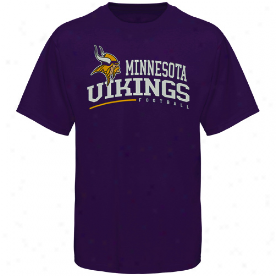 Reebok Minnesota Vikings Arched Horizon T-shirt - Purple