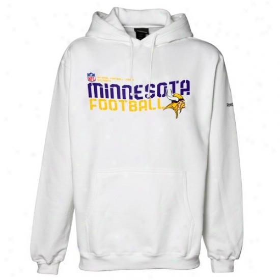 Reebok Minnesota Vikings White Sideline Tacon Fleece Pullover Hoody