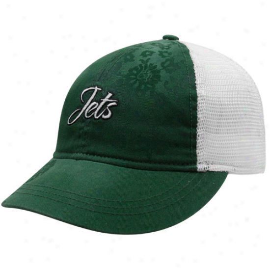 Reebok New York Jets Ladies Gree Lady Charlie Adjustable Hat