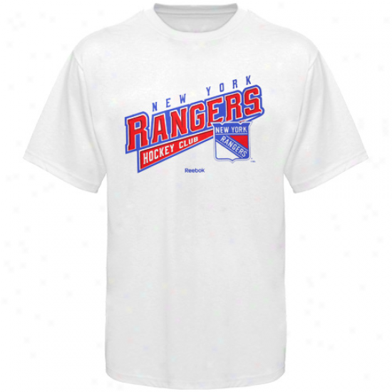 Reebok New York Rangers Hockey Sweep T-shirt - White