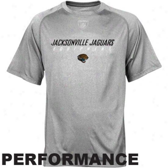 Reebok Nfl Equipment Jacksonville Jaguars Youth Athletic Gray Foundation Speedwick Performance T-shirt