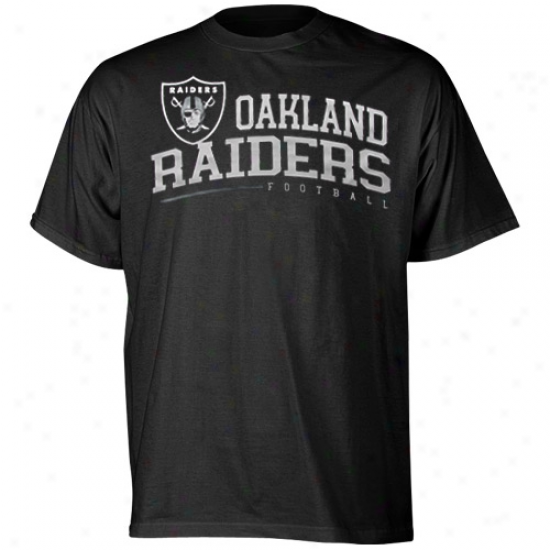 Reebok Oakland Raiders Arched Horizon T -shirt - Black