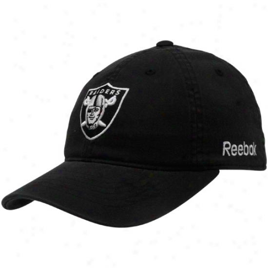 Reebok Oakland Raiders Black Sideline Flex Hat