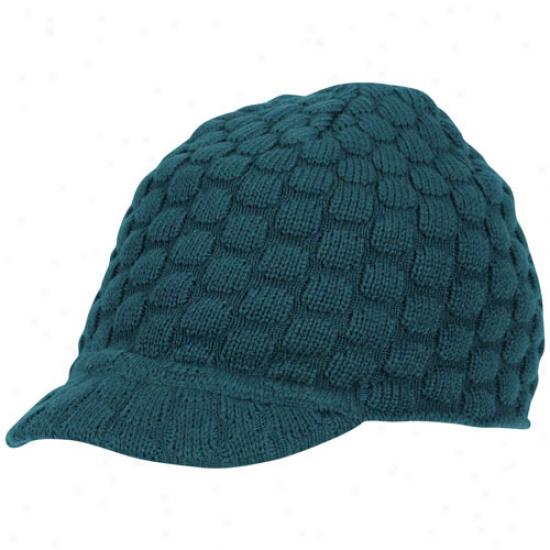 Reebok Philadelphia Eagles Ladies Midnight Green Huddle-up Knit Visor Beanie