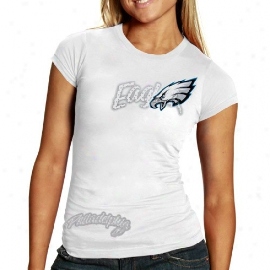 Reebok Phlladelphia Eagles Ladies Of a ~ color Polka Baby Doll Premium T-shirt