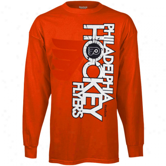 Reebok Philadelphia Flyers Glacier Long Sleeve T-shirt - Orange