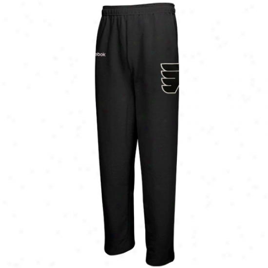 Reebok Philadelphia Flyers Youth Black Faceoff Fleece Pants