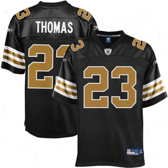 Reebok Pierre Thomas New Orleans Saints Replica Jersey - Black